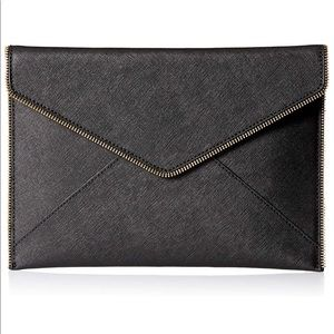 "NWT Rebecca Minkoff Leo 13"" Clutch in Black"